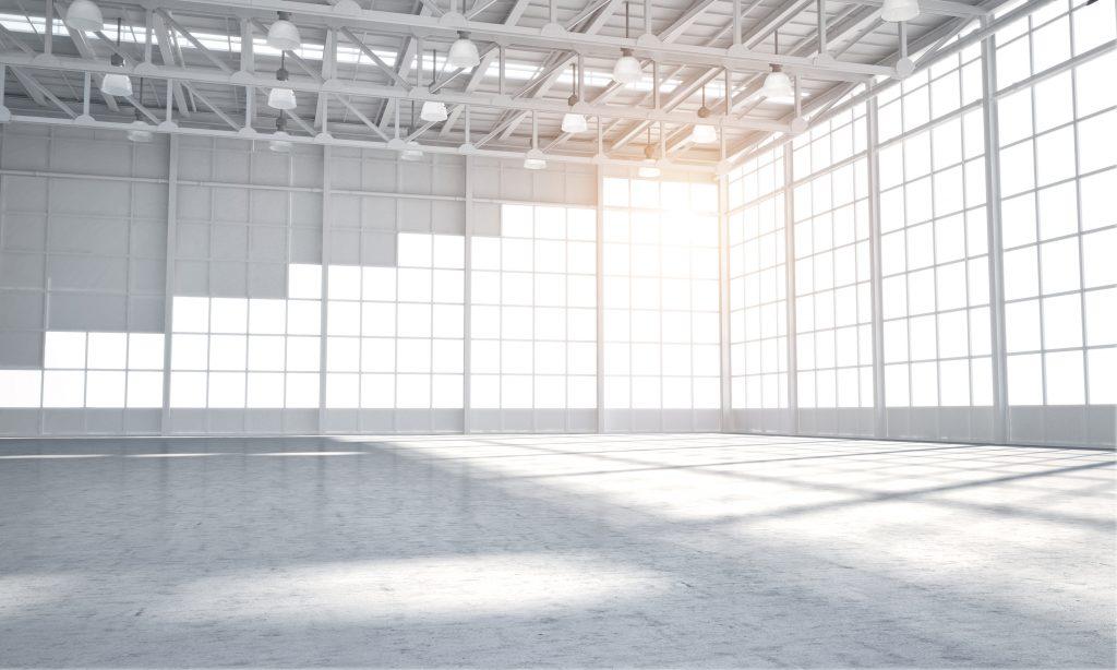 Empty warehouse showroom
