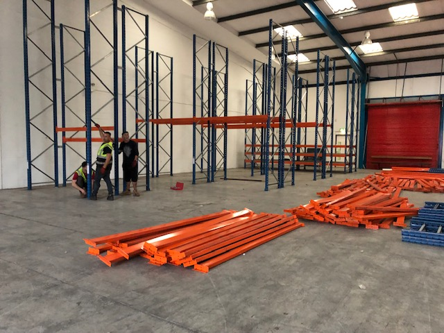 60 Bays of Pallet Racking   Ready to Go